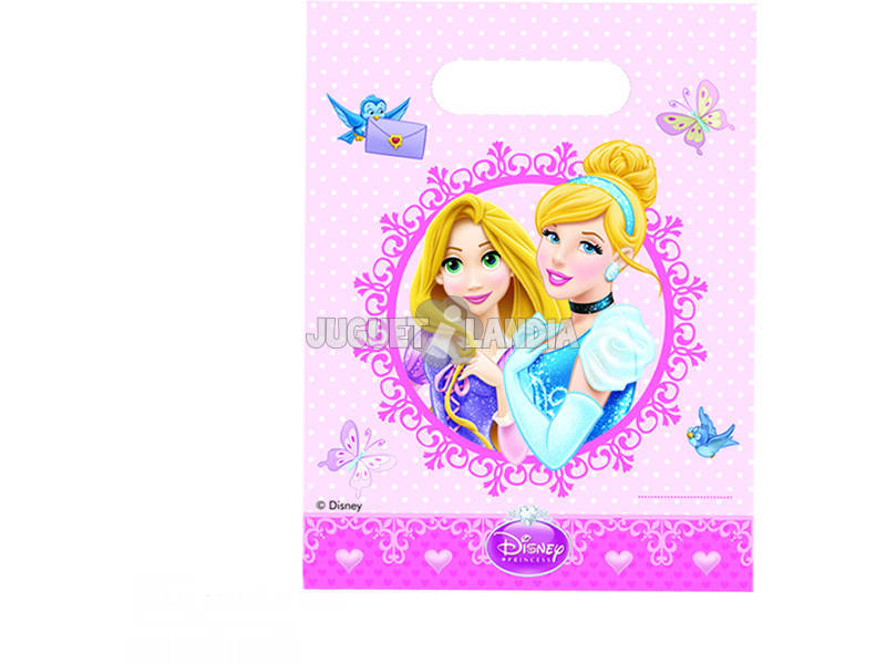 Princesas Glamour pack 6 bolsas de festa