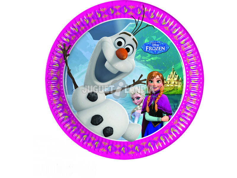 Frozen pack 8 platos 20 cm.