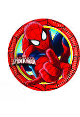 Spiderman Pack 8 Assiettes 20cm