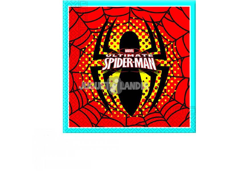Spiderman pack 20 tovaglioli 33 x 33 cm.