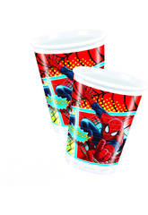 Spiderman pack 8 vasos 200 ml.
