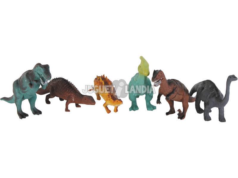 Fauna Animal Dinossauro 6 peças