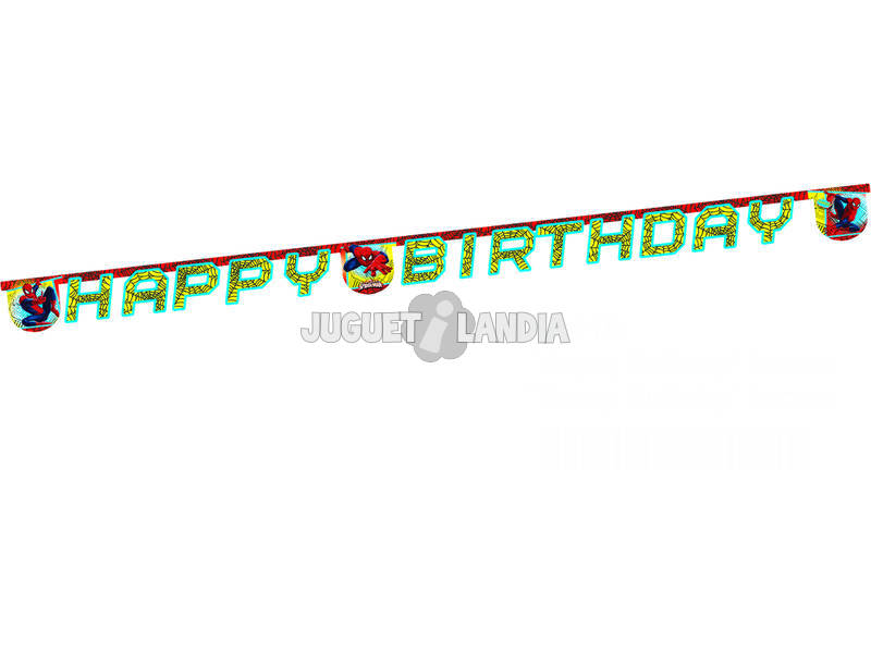 Spiderman banner happy birthday
