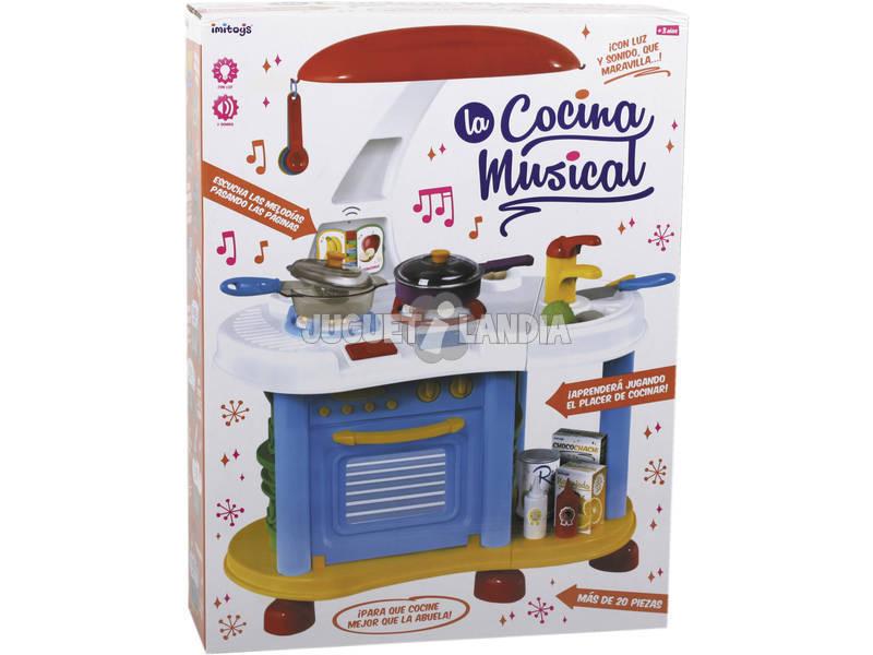 La Cocina Musical de juguete con 21 Piezas