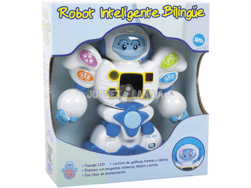 Robot 22 cm. Intelligente Bilingue