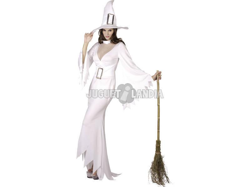 Fantasia Bruxa Branca Mulher Tamanho XL