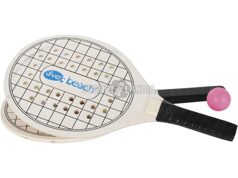 Set Palas Madera Sport Racket con Pelota