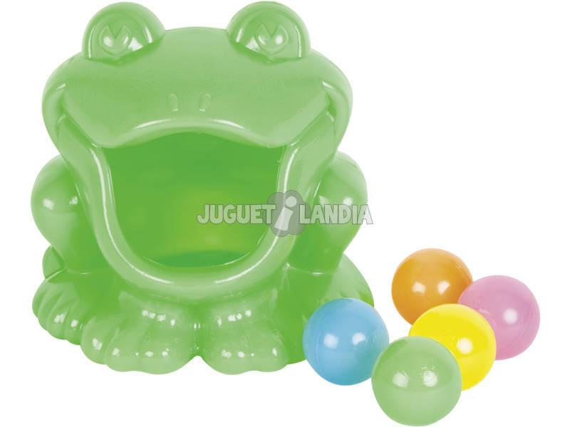 Grenouille Marques un Panier avec 5 Boulles