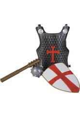 Acessórios Disfarce Sortido Set Cruzado com Couraça, Escudo e Arma 3 - 9 anos