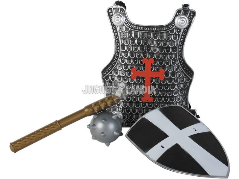 Acessórios Disfarce Sortido Set Medieval com Couraça, Escudo e Arma 3 - 9 anos