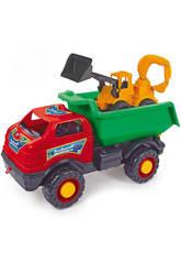Camión Super Lorry con Excavadora de Juguete