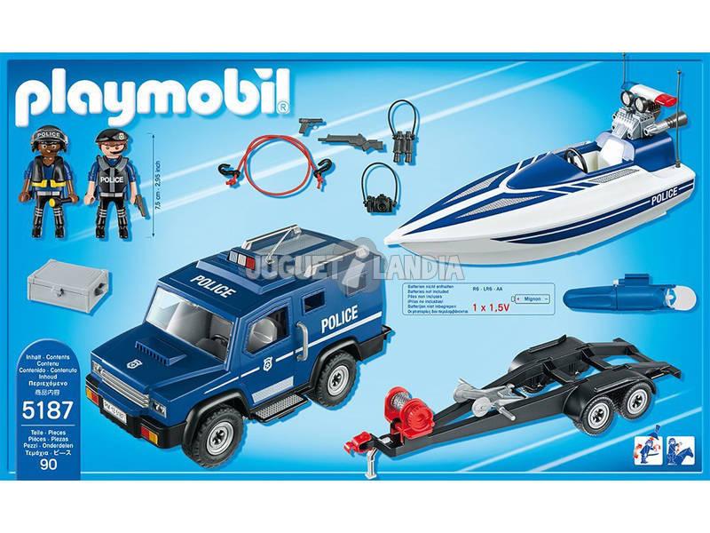 Lancha Playmobil Policía Con 5187 De Coche dsroBthxQC