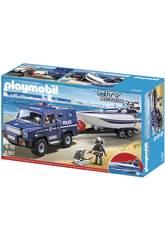 imagen Playmobil Coche de Policía con Lancha 5187