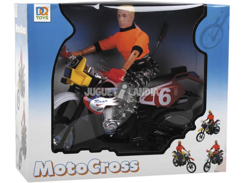 Moto Motocross con motociclista
