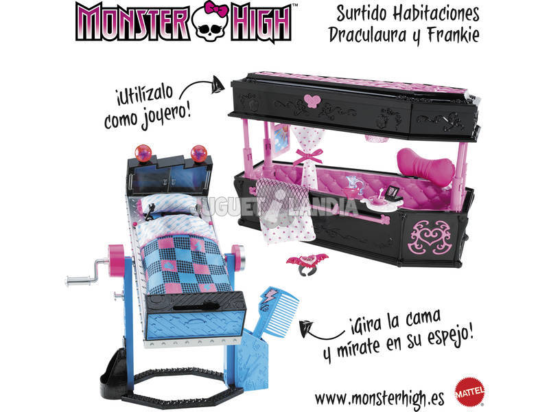 Monster High Habitaciones Draculaura/Frankie