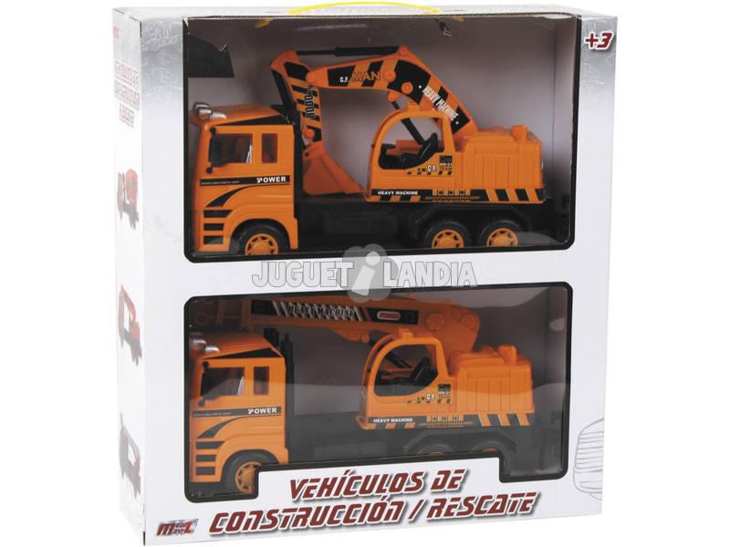 Vehiculos Construccion Camion Grua y Camion Pala