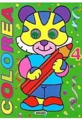 imagen Libro Coloreable con Ojos Susaeta S0316