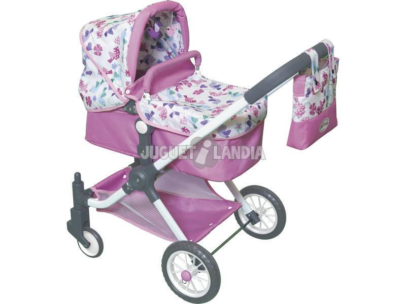 Carro mu eca 3 en 1 con bolso juguetilandia for Coches con silla para carro