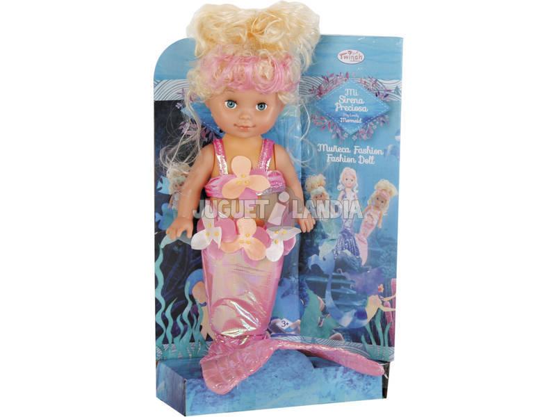 Boneca Pequena Sereia de 27 cm.