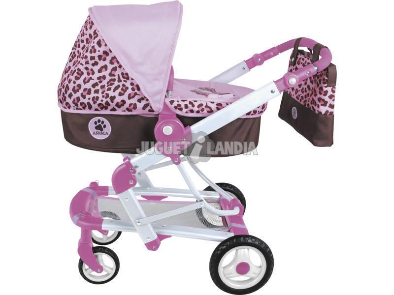 Carro mu eca y silla 2 en 1 con bolso juguetilandia for Coche con silla de auto