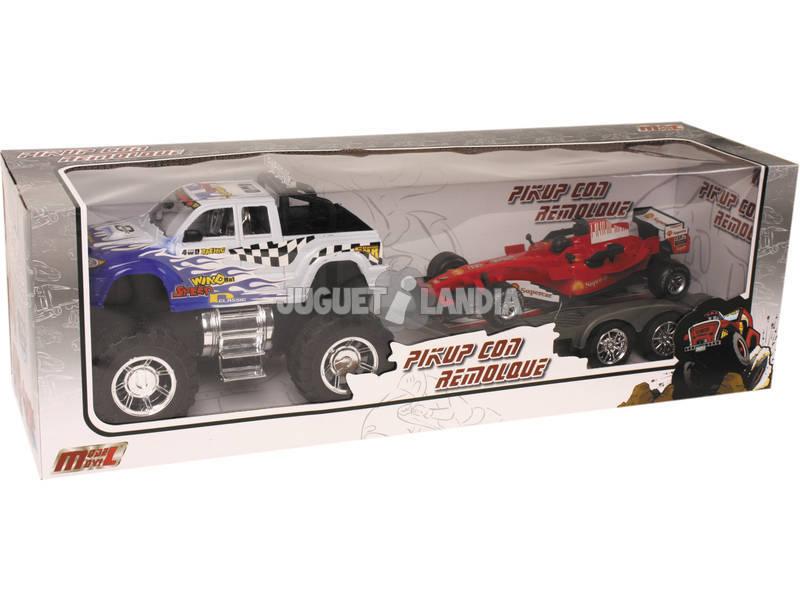 Pick Up Car com reboque e veículo de brinquedo