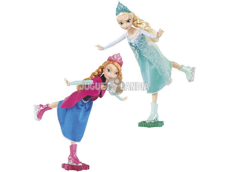 Princesa Frozen Anna y Elsa Patinadoras