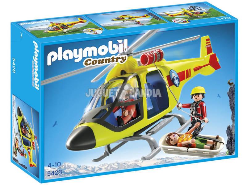 Playmobil Helicóptero de Rescate de Montaña