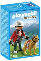 Playmobil Rescatador de Montaña con Perro