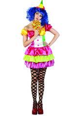 Maschera Pagliaccia Colori Donna Taglia XL