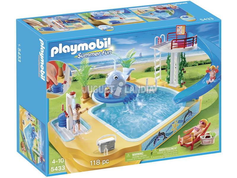 Playmobil Piscina de los Niños con Fuente