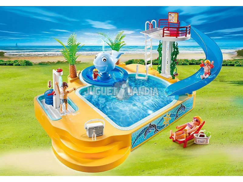 Acheter playmobil piscine des enfants avec fontaine for Piscine avec terrasse playmobil