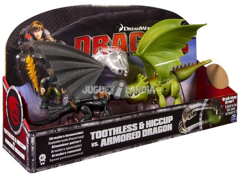Dragones de Berk Desdentado vs Dragon Armadura