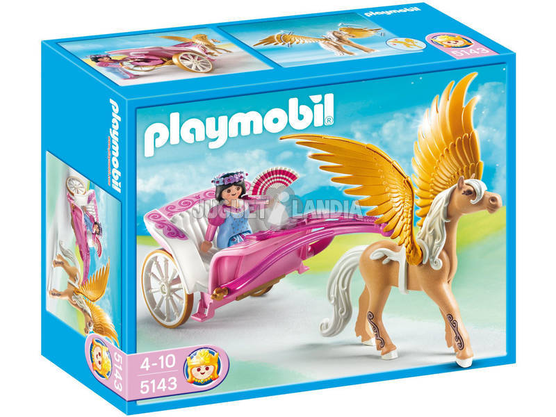 Playmobil Carrozza con cavallo alato