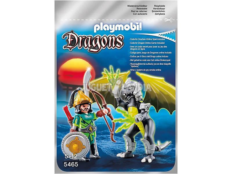 Playmobil Dragon Tormenta con Guerrero
