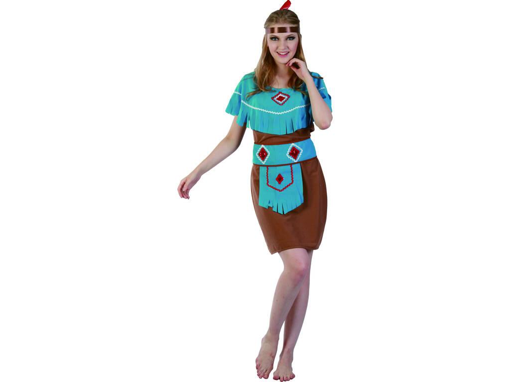 Disfraz India Mujer Detalle Azul Talla XL