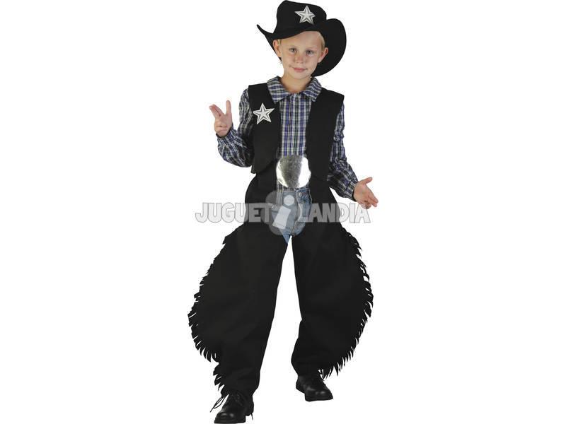 Disfraz Vaquero Negro Niño Talla XL