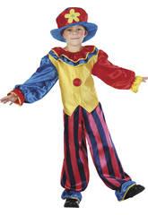 Déguisement Clown Pantalon à Rayures Garçon taille L