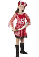 Maschera Pirata Rossa Bambina Taglia M