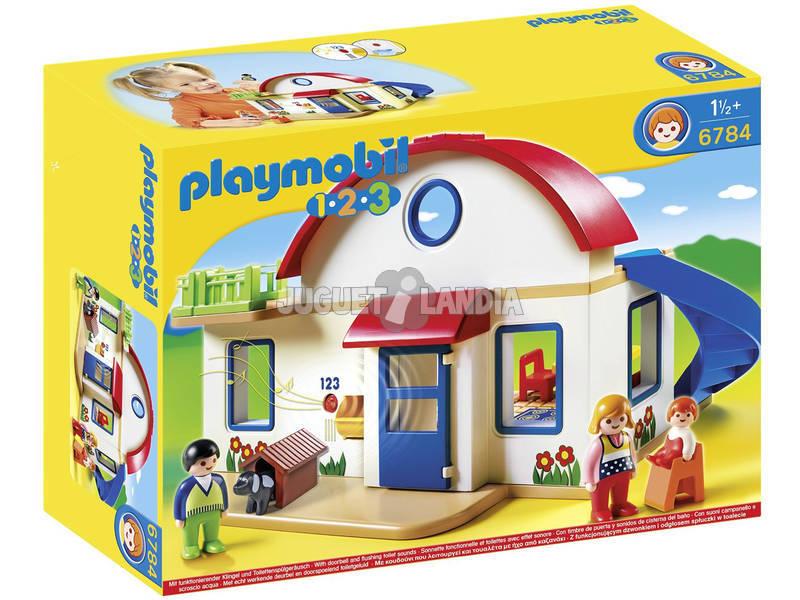 Playmobil 1.2.3 Casa Moderna de Juguete