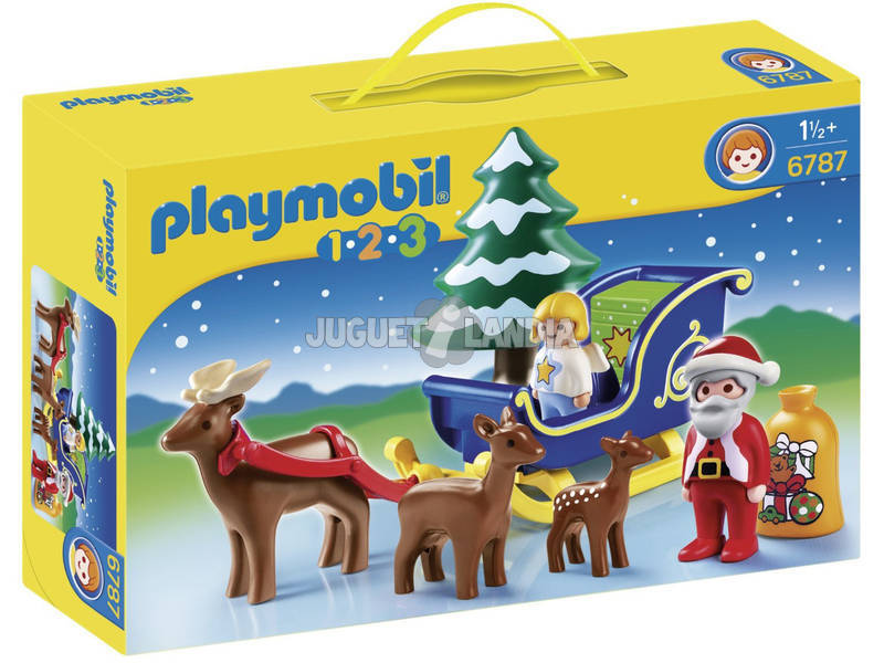 Playmobil Babbo Natale con Slitta 1-2-3