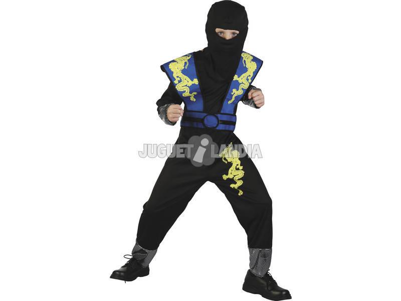 Disfraz Ninja Dragon Azul Niño Talla M