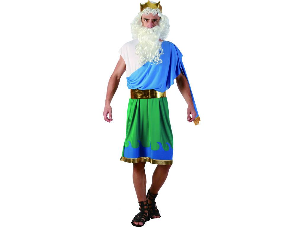 Disfraz Dios Neptuno Hombre Talla L