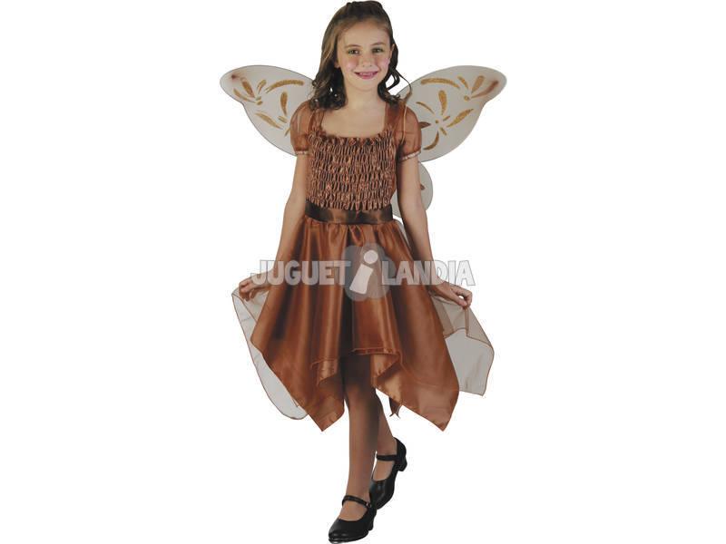 Disfraz Mariposa Niña Marrón Talla M