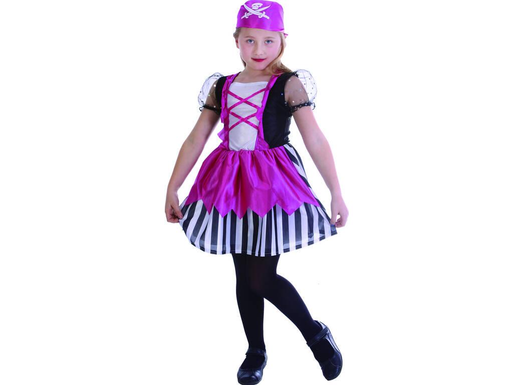 Maschera Pirata Fazzoletto Rosa Bambina Taglia L