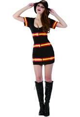 Disfraz Bombera Mujer Talla L