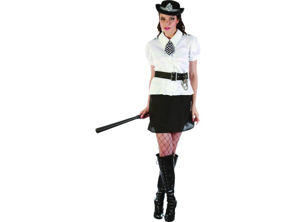 Disfraz Policia Camisa Blanca Mujer Talla L