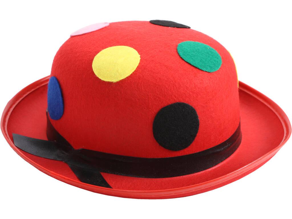 Sombrero 58 cm. Bombin Payaso Lunares
