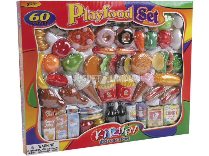 Set comidinhas divertido com 60 peças