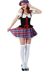 Disfraz Escocesa Sexy Mujer Talla XL