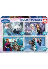 Puzzle Multi 4 50-80-100-150 Frozen
